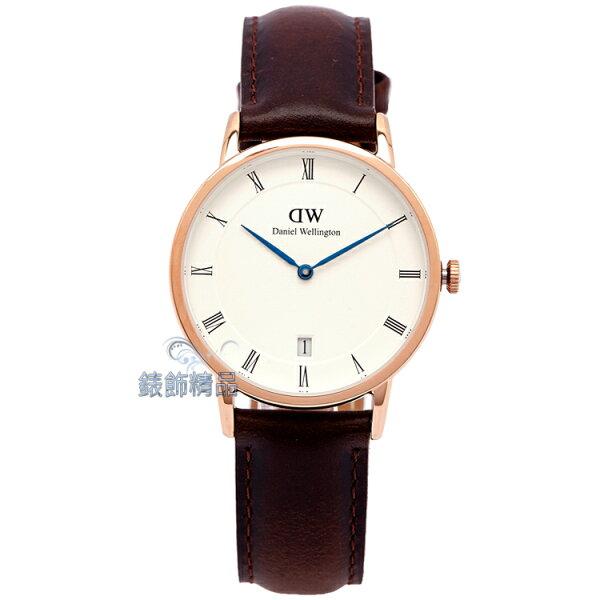【錶飾精品】現貨Daniel Wellington瑞典DW手錶 DW00100094/1133DW Dapper Sheffield 34mm 玫瑰金 女錶 全新原廠正品