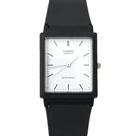 CASIO卡西歐 方形簡約刻度 透氣膠錶 黑白配色 輕巧中性款手錶 柒彩年代~NE1854