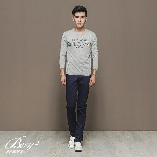 ☆BOY-2☆【NAL121】韓版休閒英文長T恤 2
