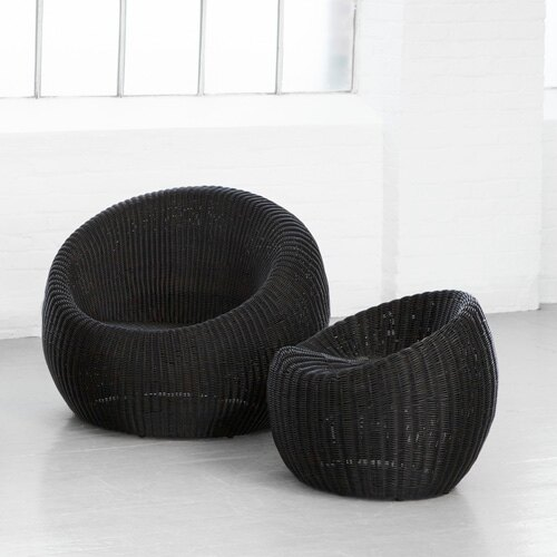 EGG 蛋椅 小圓凳 戶外家具【7OCEANS七海休閒傢俱】BLACK 黑色 1