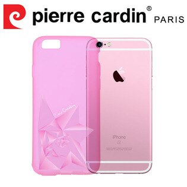 [ iPhone6/6s ] Pierre Cardin法國皮爾卡登3D立體玫瑰TPU透明手機殼 透粉色