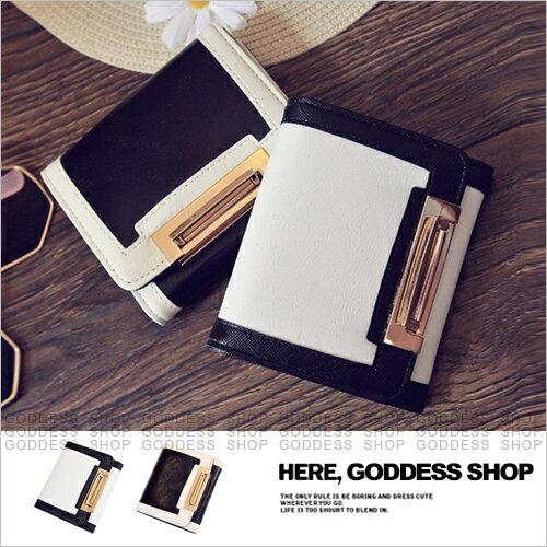 均一價299-嘉蒂斯包包 黑白幾何設計零錢包短夾【W375】2色 現貨+預購