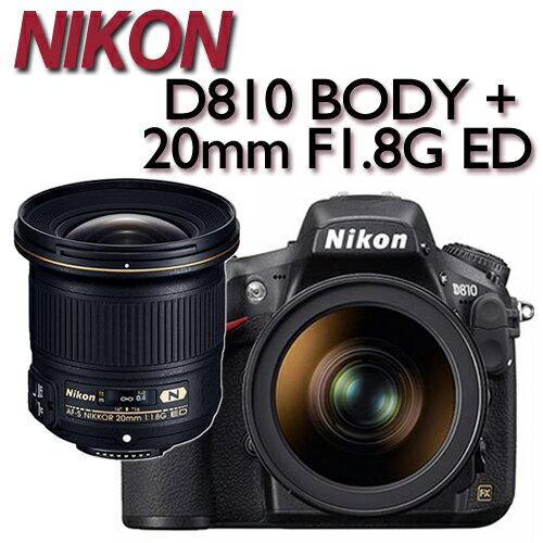 ~~送64G記憶卡 JOVEN 加州200 攝影相機包~NIKON D810 BODY 單