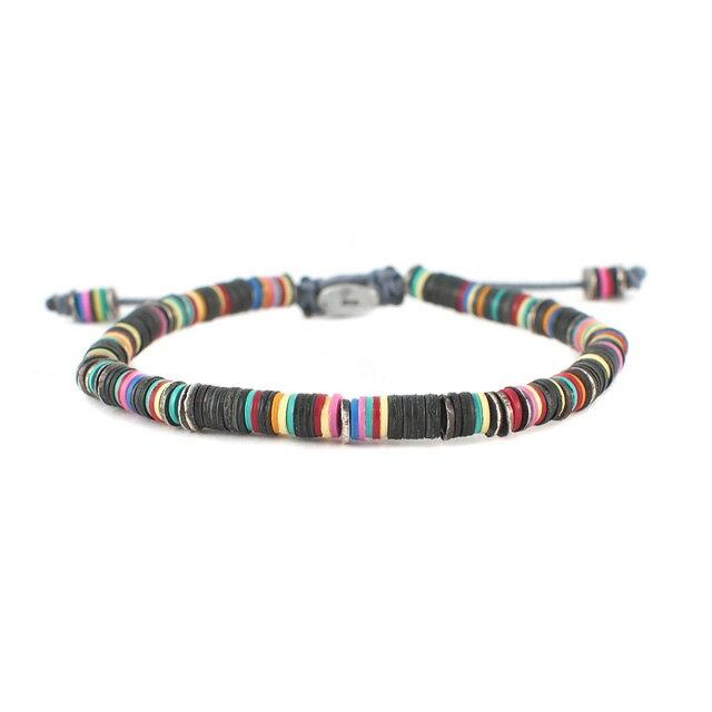 【現貨商品】【M.Cohen】異國非洲黑色串珠手環(MC-B-10589-OXI-BLK) 0