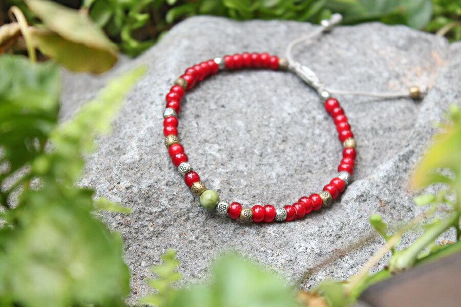 【現貨商品】【M.Cohen】土耳其熱帶串珠手環 (MC-B-10289-MIX-RED 0839600201) 1