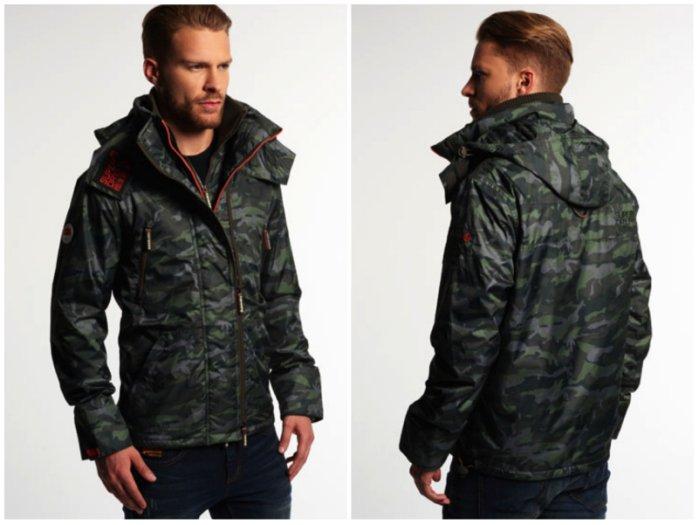 [男款]英國名品代購 極度乾燥 Superdry Arctic Wind Attacke男士防水防風戶外休閒外套夾克風衣 迷彩綠 2