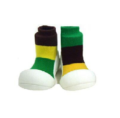 【本月特價$599】韓國【Attipas】快樂腳襪型學步鞋-居家褐 - 限時優惠好康折扣