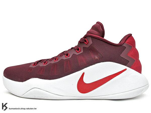 2016 ZOOM AIR 氣墊搭載 強勢回歸 NIKE HYPERDUNK 2016 LOW EP 深紅 深紅白 紅白 FLYWIRE 鞋面科技 XDR 耐磨橡膠外底 輕量化 籃球鞋 HD 2K16 (844364-616) 1016