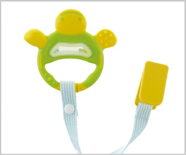 Richell利其爾 - 固齒器 翠綠色手指型 (附固定夾) 4