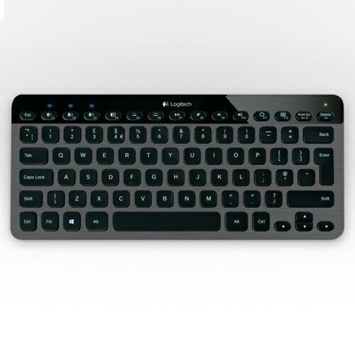 【Logitech 羅技】USB隨插即用可充電式設計 雷射蝕刻按鍵自動背光感應 無線藍牙炫光鍵盤 K810