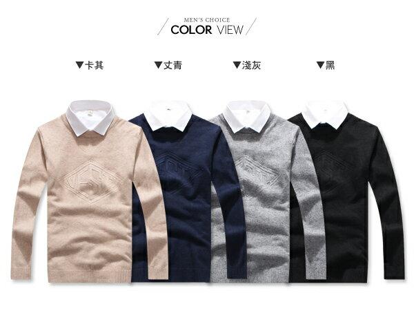 ☆BOY-2☆【PPK86031】針織衫 VESTI鋼印質感毛衣 1