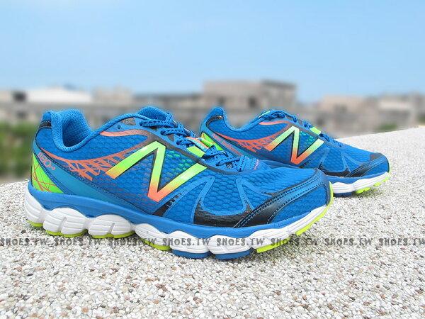 《超值4.9折》Shoestw【M880BY4】NEW BALANCE 慢跑鞋 藍螢光黃 2E楦頭 男生