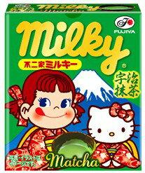 有樂町進口食品 日本進口 不二家Peko凱蒂貓抹茶牛奶糖17g 4902555111346