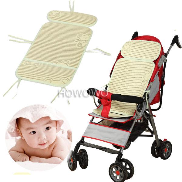 嬰兒推車涼蓆 推車座墊 棉麻藤竹炭三層涼蓆 MX101356