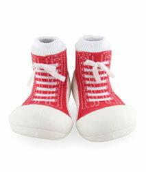 【本月特價$599】韓國【Attipas】快樂腳襪型學步鞋-律動紅 - 限時優惠好康折扣