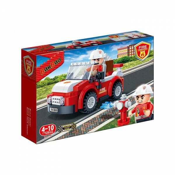 【BanBao 積木】新消防系列-消防支援車 7117  (樂高通用) (滿2000元再送積木回力車一盒)