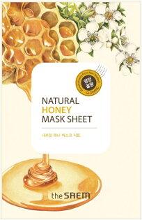 韓國the SAEM Natural 美顏蜂蜜面膜 21ml Natural Honey Mask Sheet (New)【辰湘國際】
