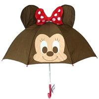 下雨天推薦雨靴/雨傘/雨衣推薦MN日本原裝 迪士尼系列耳朵款 兒童傘/雨傘-米妮