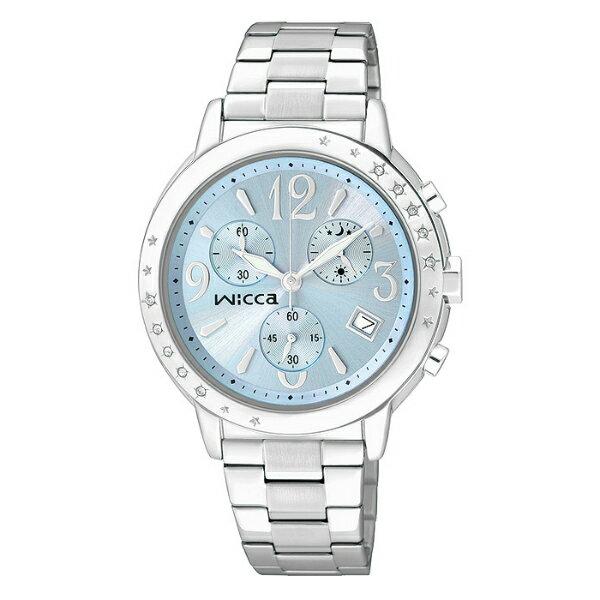 CITIZEN星辰WICCA(BM1-113-71)施華洛世奇時尚水晶腕錶/藍面35mm