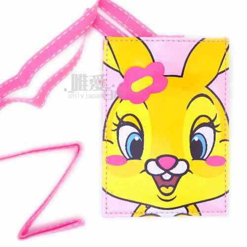 ~*唯愛日本*~B11052700204 迪士尼玩具總動員 卡票皮套附頸繩-邦妮兔 悠遊卡套 證件套 正版