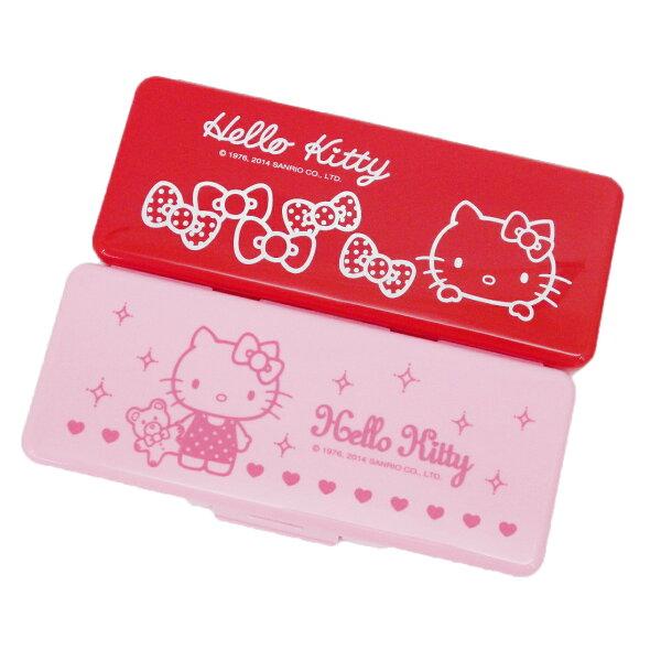 【唯愛日本】14091200006 長方形塑膠筆盒-2色三麗鷗 Hello Kitty 凱蒂貓 鉛筆盒 隨機出貨