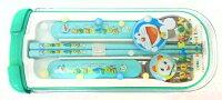 小叮噹週邊商品推薦【唯愛日本】14101800019 3件式筷匙組 Doraemon 哆啦A夢 小叮噹 餐具