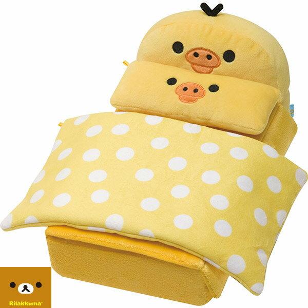 【唯愛日本】14111200045 絨毛小床組置物盒-小雞 SAN-X 拉拉熊 懶熊 奶妹 奶熊 收納盒 日本正品 預購