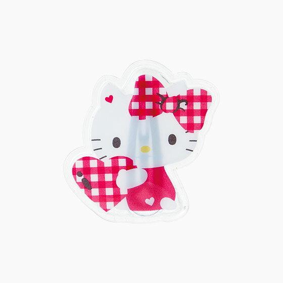 【真愛日本】15042900041 枇杷髮夾-愛心格紋粉 三麗鷗 Hello Kitty 凱蒂貓 髮飾 飾品 正品 限量