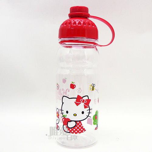 ~真愛 ~13082100001 曲線冷水壺~側坐紅結蘋果 三麗鷗 Hello Kitty