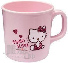 【唯愛日本】14011800033 曲線漱口杯-愛心 三麗鷗 Hello Kitty 凱蒂貓 浴室用品 刷牙杯 正品