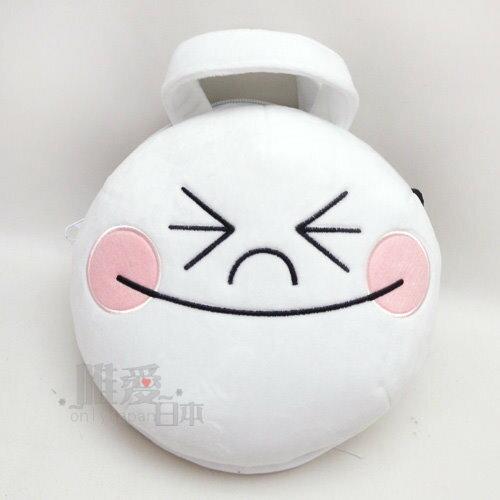 【唯愛日本】14013000006 頭型側背包-饅頭人 LINE公仔 饅頭人 兔子 熊大 造型背包 手提包