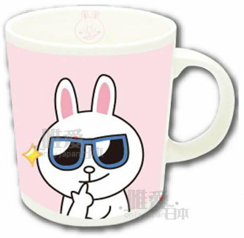 【唯愛日本】14032800033 馬克杯-兔子墨鏡 LINE公仔 饅頭人兔子熊大 咖啡杯 下午茶杯