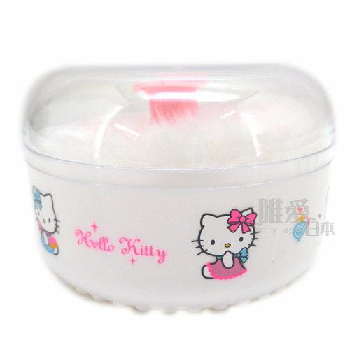 【真愛日本】 6030900017 Q版小圖粉撲盒 三麗鷗 Hello Kitty 凱蒂貓 保養防護 台灣製