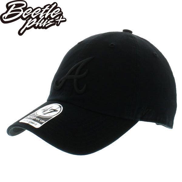 BEETLE 47 BRAND 老帽 亞特蘭大勇士 ATLANTA BRAVES DAD 大聯盟 MLB 黑魂 全黑 MN-405 0