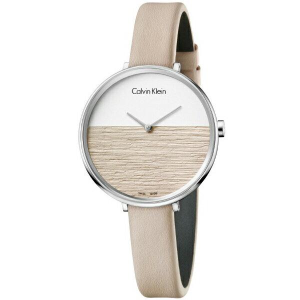 CK 晨曦系列(K7A231XH)旭日平洋腕錶/粉+白面38mm