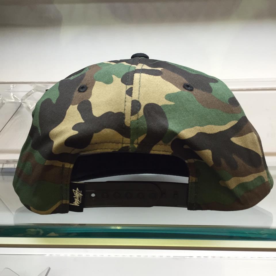 BEETLE STUSSY STOCK LOCK FA15 CAP 迷彩 黑 棒球帽 LOGO 滿版 刺繡 復古 2