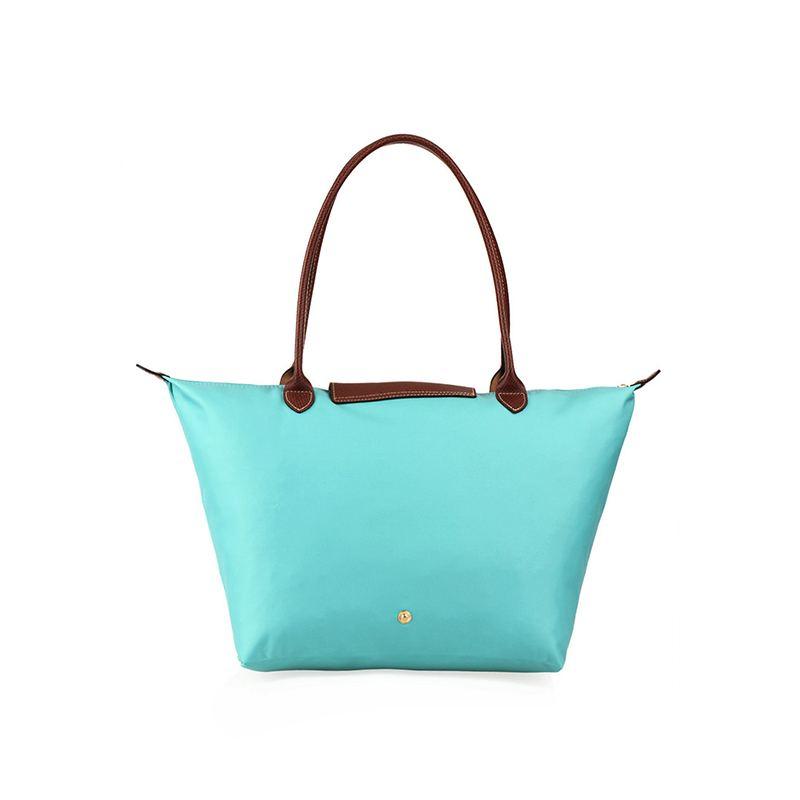 [長柄M號]國外Outlet代購正品 法國巴黎 Longchamp [1899-M號] 長柄 購物袋防水尼龍手提肩背水餃包 湖水綠 2