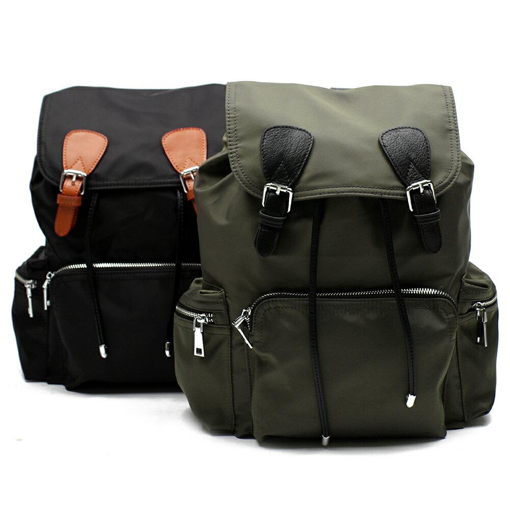 【BEIBAOBAO】倫敦學院防水布配真皮後背包(共兩色:時尚黑) 2