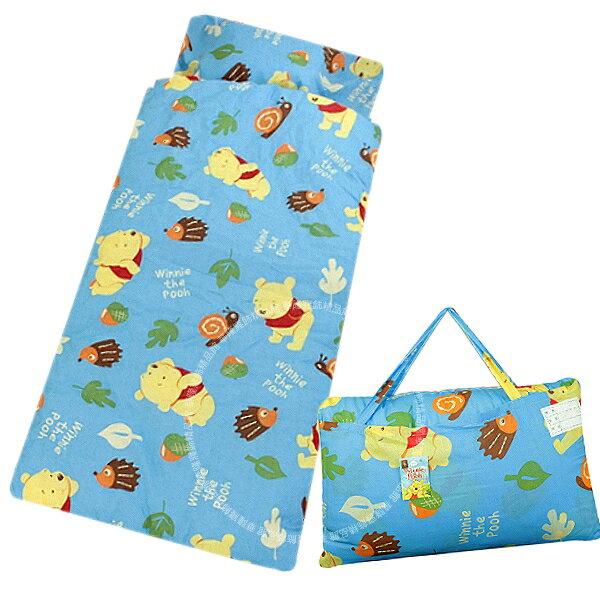 (可超取)4X5尺一般型兒童睡袋【迪士尼Disney維尼熊小熊維尼】正版卡通授權 台灣製造MIT 附提袋 非網紗內胎 小枕心~華隆寢飾