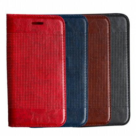 三星 Samsung Galaxy S7 edge 輕薄皮革壓紋真皮質感皮套 側掀磁吸皮夾支架式皮套 0