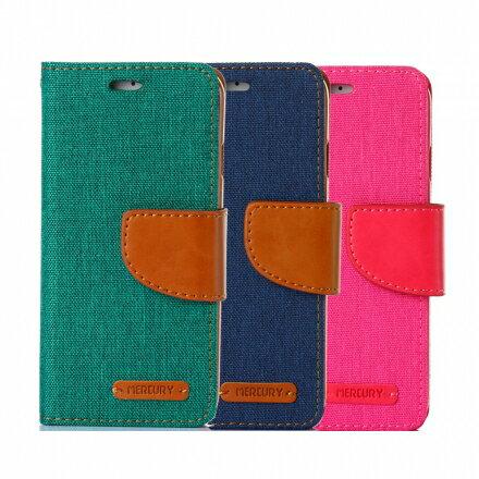 Mercury Samsug Note 5 韓風雙色牛仔紋 側掀磁扣支架式皮套 矽膠軟殼 綠藍桃色 0