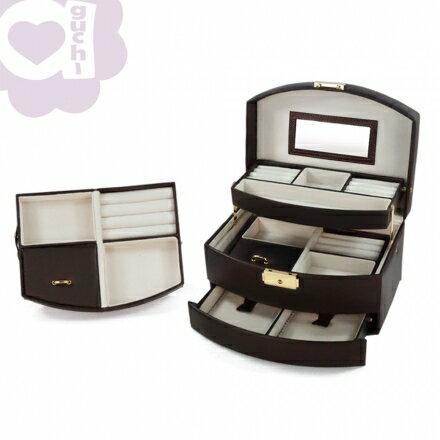 【Aguchi 亞古奇】皇家風範-貴族棕 (氣質貴族系列) 珠寶盒 0