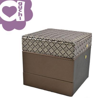 【Aguchi 亞古奇】編織小皇家-耀眼棕 珠寶盒(編織精靈系列) 0