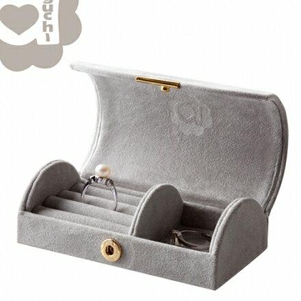【Aguchi 亞古奇】玩美精靈-時尚灰 珠寶盒 0