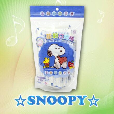 SNOOPY 史努比 單支包攜帶型超韌牙線棒(100入補充包) - 限時優惠好康折扣