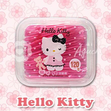 Hello Kitty 凱蒂貓扁線牙線棒 120支(盒裝) 0