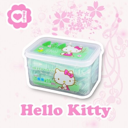☆ Hello Kitty ☆ 凱蒂貓 薄荷扁線牙線棒 500 支 0