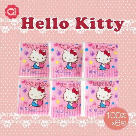 ☆ Hello Kitty ☆ 凱蒂貓 螺旋棉花棒 (100支x6包) 0