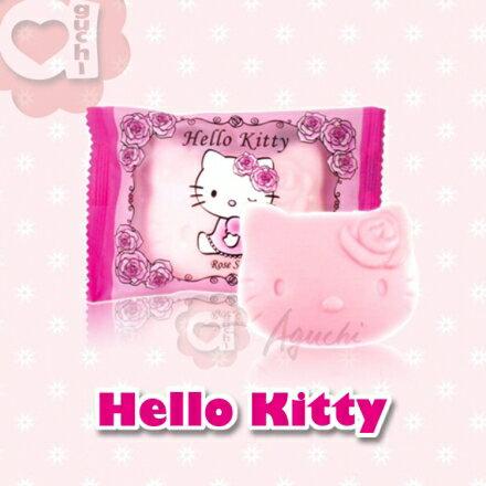【Aguchi 亞古奇】☆Hello Kitty☆ 凱蒂貓 晨曦玫瑰麝香造型香皂 / 精油皂~伴手禮