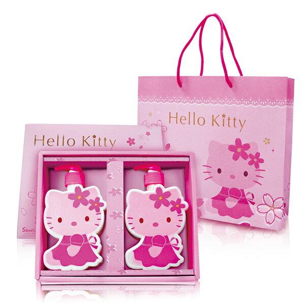 【Aguchi 亞古奇】☆Hello Kitty☆ 凱蒂貓櫻花造型SPA 洗沐禮盒(1洗髮1沐浴) 0